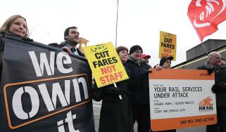 Train protests