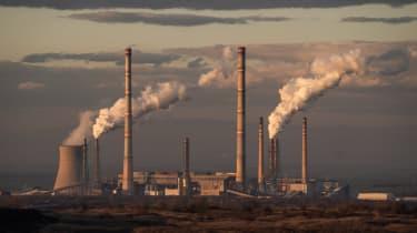 The Maritsa East 2 thermal power plant in Polski Gradets, Bulgaria