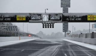 F1 testing snow Circuit de Catalunya