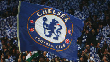 Chelsea flag flies at Stamford Bridge