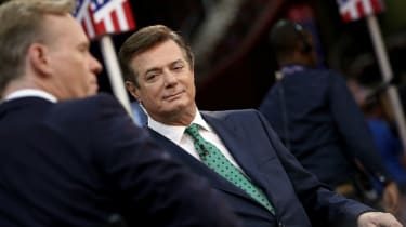 Paul Manafort (R) Trump's campaign manager in July, 2016.