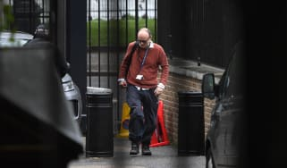 Dominic Cummings arrives at Downing Street