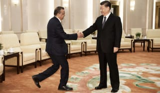 Dr. Tedros Adhanom Ghebreyesus, director-general of the World Health Organisation, and President Xi Jingping of China