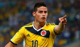 Colombian World Cup star James Rodriguez