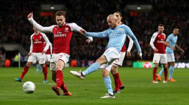 Carabao Cup Arsenal 0 Manchester City 3 David Silva goal