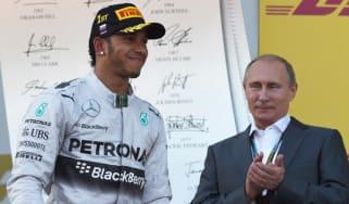 Lewis Hamilton, Vladimir Putin, Russian Grand Prix