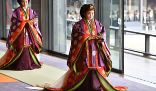 Princess Mako wearing traditional clothes at a royal ceremony