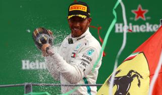 Lewis Hamilton celebrated 11 races wins in the 2019 Formula 1 season