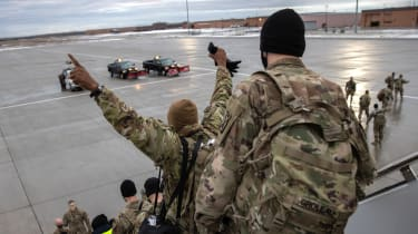 US troops return home as part of the ongoing withdrawal of military forces
