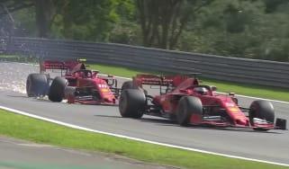 Ferrari drivers Sebastian Vettel and Charles Leclerc collided during the Brazilian Grand Prix