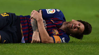 Lionel Messi injured