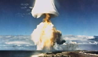 A French nuclear test in French Polynesia in the 1970s