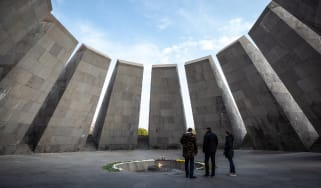 A memorial built in 1967 marking the Armenian genocide