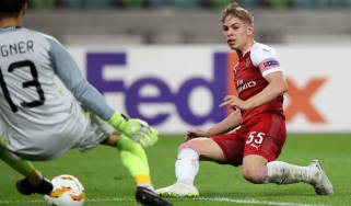 Emile Smith Rowe goal Arsenal Qarabag Europa League