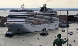 MSC Orchestra departs Venice