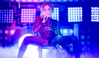 Beyonce performing at The Grammy Awards