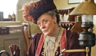 Maggie Smith as Violet, the dowager countess of Grantham