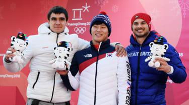 Men's skeleton medal winners Winter Olympics PyeongChang 2018