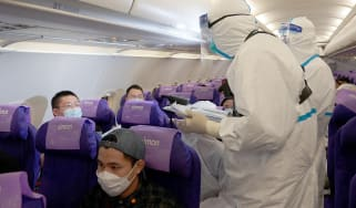 Masks, visors and other PPE are thought to reduce the spread of Covid-19 on planes