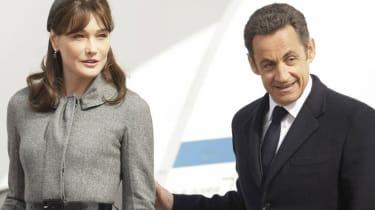 Carla Bruni with Nicolas Sarkozy