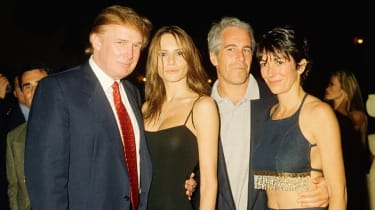 Donald and Melania Trump pictured with Jeffrey Epstein and Ghislaine Maxwell in Florida in 2000