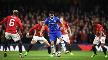 Diego Costa, Chelsea vs Manchester United