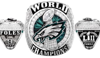 Philadelphia Eagles NFL Super Bowl championship ring Nick Foles