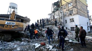 Thumane Albania Earthquake