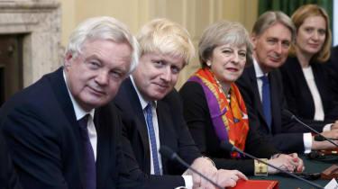 David Davis, Boris Johnson and Theresa May