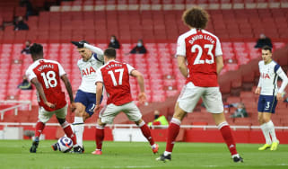 Tottenham's Erik Lamela scored a 'rabona' against Arsenal at the Emirates