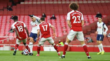 Tottenham's Erik Lamela scored a 'rabona' against Arsenal at the Emirates