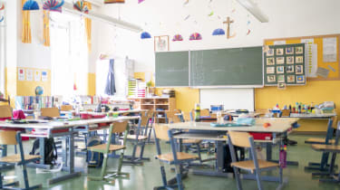 LEOBEN, AUSTRIA - MARCH 12: An empty classroom during the Coronavirus Affects Everyday Life In Austria at Leoben on March 12, 2020 in Leoben, Austria. (Photo by Klaus Pressberger/SEPA.Media /
