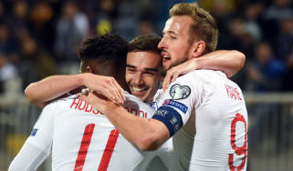 Harry Winks scored his first goal for England in the 4-0 win in Kosovo