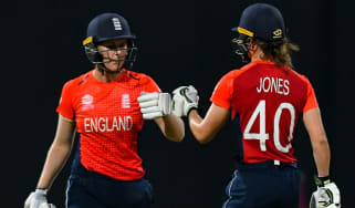Nat Sciver and Amy Jones will hope to lead England to glory in the ICC Women's World T20 cricket final