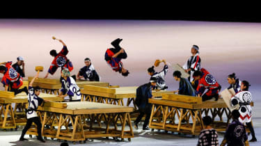 Performers in action during the opening ceremony