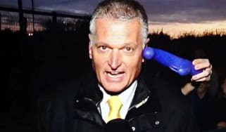 Sky SportS reporter interrupted by the public