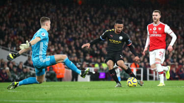 Manchester City beat Arsenal 3-0 in December's Premier League match at the Emirates Stadium