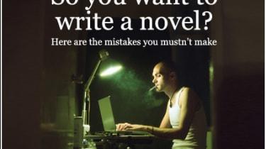Writer sitting at laptop