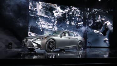 DETROIT, MI - JANUARY 9: The 2018 Lexus LS Sedan is shown at its reveal at the 2017 North American International Auto Show on January 9, 2017 in Detroit, Michigan. Approximately 5000 journali