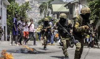 Protests in Port-au-Prince following the assassination of President Jovenel Moise