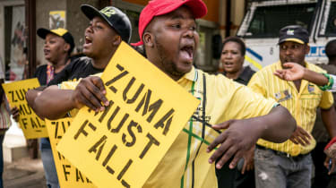 Jacob Zuma has faced growing public pressure to stand down