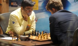 Carlsen and Anand in the World Chess Championship