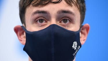 Tears well up in the eyes of Tom Daley after his gold at Tokyo 2020