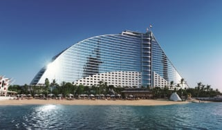 The five-star Jumeirah Beach Hotel in Dubai, UAE