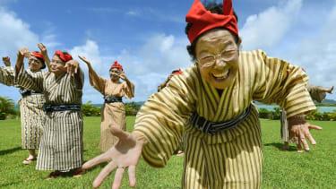 Smiling woman on Okinawa