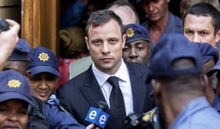 Oscar Pistorius on day of verdict