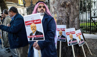 A vigil is held in London for murdered journalist Jamal Khashoggi