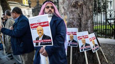 A vigil is held in London for murdered journalist Jamal Khashoggi
