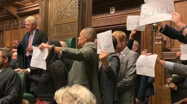 MPs protest prorogation