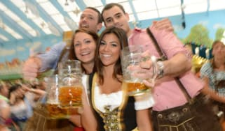 Revellers at Oktoberfest in Germany